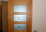 European type wooden windows and doors